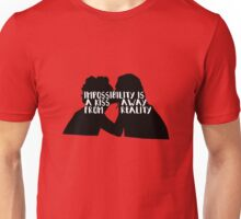 Nomi x Amanita: A kiss away from reality ; Three Unisex T-Shirt