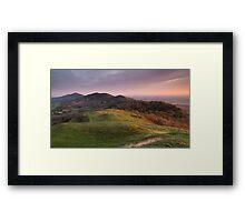 The Malverns Ridge, England Framed Print