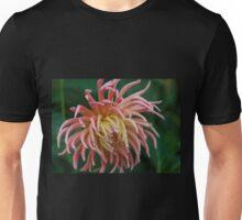 Pink Dahlia Flower Unisex T-Shirt