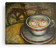 Still life with red cruiser bike Metal Print