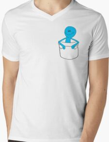 Mr Meeseeks Pocket Tee - Rick and Morty Mens V-Neck T-Shirt