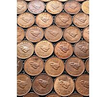 Who's your Farthing? Coins Photographic Print