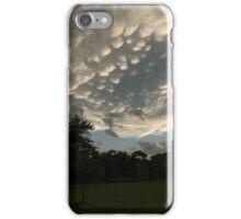Summer Storm Aftermath - Extraordinary Mammatus Clouds iPhone Case/Skin