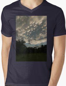 Summer Storm Aftermath - Extraordinary Mammatus Clouds Mens V-Neck T-Shirt