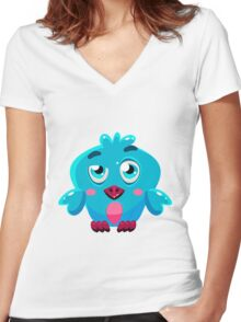 Colorful Bird  #4 Women's Fitted V-Neck T-Shirt
