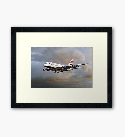 British Airways Airbus A380 Framed Print