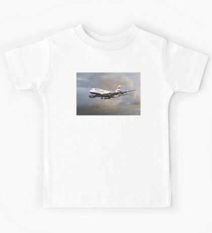 British Airways Airbus A380 Kids Tee