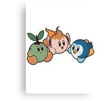 Kirby Pokémon Starters Canvas Print