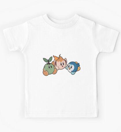Kirby Pokémon Starters Kids Tee