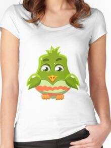 Colorful Bird  #6 Women's Fitted Scoop T-Shirt