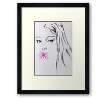 Simply pink Framed Print