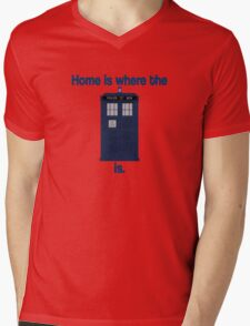 Doctor Who - Home is where the Tardis is Mens V-Neck T-Shirt