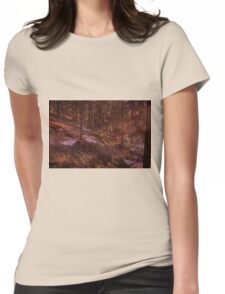 Red Forest Womens Fitted T-Shirt