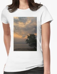 Summer Storm Aftermath - Phenomenal Sky Over the Lake Womens Fitted T-Shirt
