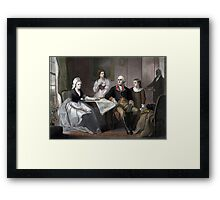 George Washington And His Family Framed Print