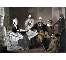 George Washington And His Family Photographic Print
