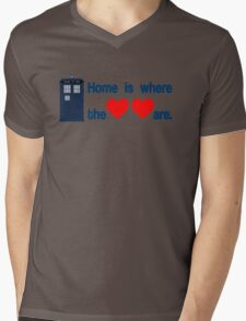 Doctor Who - Home is where the hearts are. Mens V-Neck T-Shirt