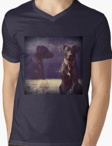 """Don't Chase the Goats, Self..."" 900 views Mens V-Neck T-Shirt"