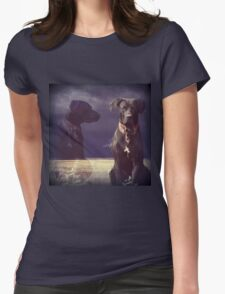 """""""Don't Chase the Goats, Self..."""" 900 views Womens Fitted T-Shirt"""