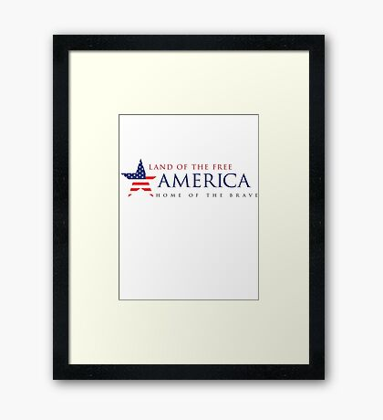 America Land of the Free Framed Print
