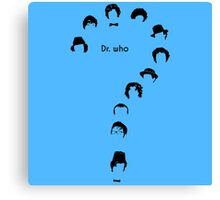 dr who question mark Canvas Print