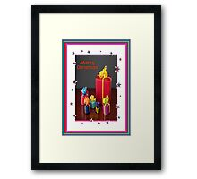 Merry Christmas Gift Boxes Holiday Greeting Framed Print