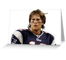 New England Patriots' Tom Brady Long Hair Greeting Card