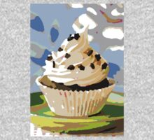Chocolate Cupcakes with Vanilla Frosting One Piece - Long Sleeve