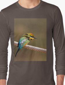 Ruffled Rainbow Bee Eater Long Sleeve T-Shirt