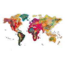 World map 2027 Photographic Print