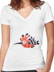 Colorful Bird  #11 Women's Fitted V-Neck T-Shirt