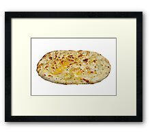 Cheese Flat Bread Framed Print