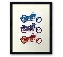 triumph motorcycle vintage retro design Framed Print