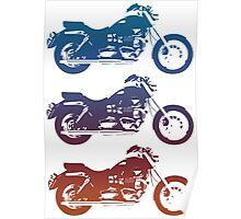 triumph motorcycle vintage retro design Poster