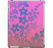 Abstract neon pink purple blue floral pattern  iPad Case/Skin