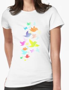 Colorful Bird  #14 Womens Fitted T-Shirt
