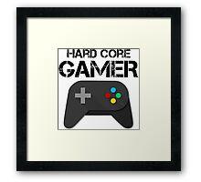 Hard Core Gamer Framed Print