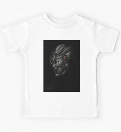 Cyborg Ninja Warrior Black Kids Tee