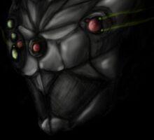 Cyborg Ninja Warrior Black Sticker