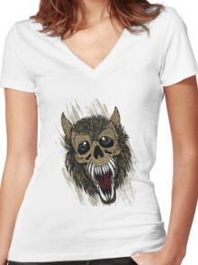 Big Tooth Women's Fitted V-Neck T-Shirt