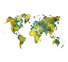 World map 2038 Photographic Print