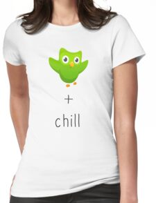 duolingo and chill Womens Fitted T-Shirt