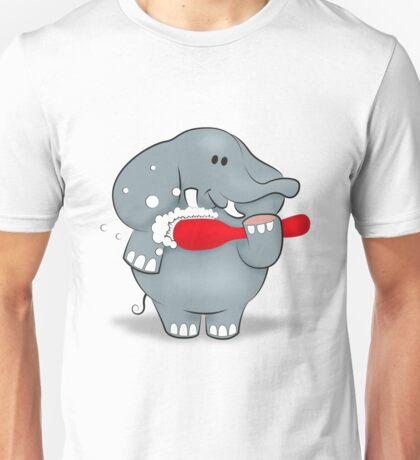 Elephant and Toothbrush Unisex T-Shirt