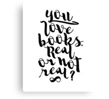 YOU LOVE BOOKS (BLACK) Canvas Print