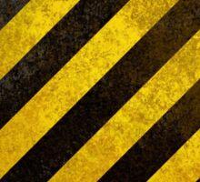 DANGER - Digital Art Warning Stripes Sticker