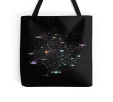 Network Graph of Programming Language Influence 2013 - Black Background Tote Bag