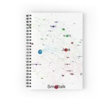 Network Graph of Programming Language Influence 2013 - White Background Spiral Notebook