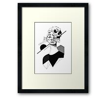 Skull and Woman 01 Framed Print