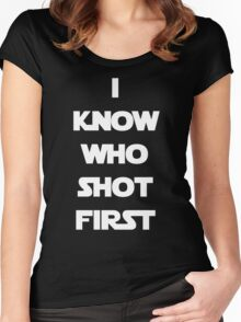 Shot First Women's Fitted Scoop T-Shirt