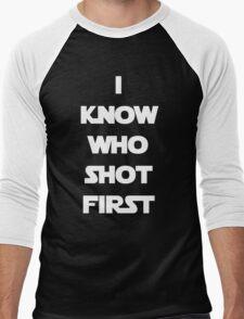 Shot First Men's Baseball ¾ T-Shirt
